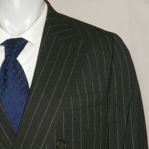 Paul Stuart Custom Made Double Breasted Suit 42ST